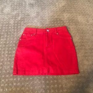Red Forever 21 Mini Skirt